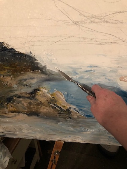 Sculpting preliminary foundations using acrylic paints